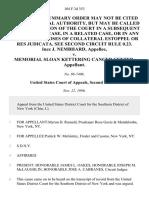 Inez J. Nembhard v. Memorial Sloan Kettering Cancer Center, 104 F.3d 353, 2d Cir. (1996)