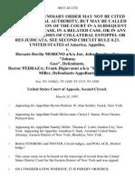 "United States v. Horacio Davila Moreno A/K/A Joe John Peretta A/K/A ""Johnny Goo"", Hector Pedraza Frank Digiovanni A/K/A ""Frank D"" Stanley Miller, 108 F.3d 1370, 2d Cir. (1997)"