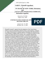 Leonard F. v. Israel Discount Bank of New York, and the Metropolitan Life Insurance Company, 199 F.3d 99, 2d Cir. (1999)