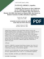 United States v. Jose Oscar Calderon, Also Known as Jose Calderone, Also Known as Jose O. Calderon-Guzman, Also Known as Ramon A. Alis, Also Known as Ramon Alise, Also Known as Ramon Alix-Difo, Also Known as Ramon Difo, Also Known as Ramon Gonzalez-Castillo, 243 F.3d 587, 2d Cir. (2001)