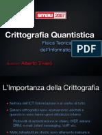 [slides] Crittografia Quantistica