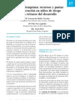 Recursos y pautas de intervención en niños de riesgo o con retrasos del desarrollo