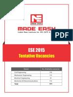 ESE 15 Vacancies