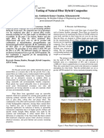 Fabrication and Testing of Natural Fiber Hybrid Composites