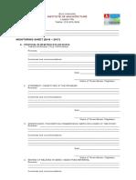 Thesis Monitoring Sheet Form