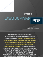 Laws Summary Part 1