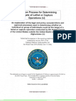 Report on Process of Determining Targets Of
