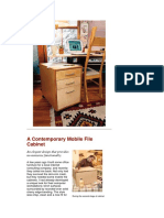 A Contemporary Mobile File Cabinet