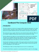 Cardboard Computer Desk