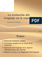 Clase Evolución del lenguaje en la especie.ppt