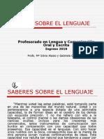 Saberes Sobre El Lenguaje