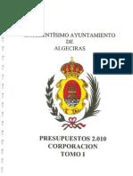 Presupuestos Generales 2010 TOMO I