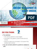 Dietary Managment in Kidney Disease - Mrs. Mariam Allaik Kamareddine