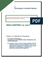 Nature of Psychology 2008