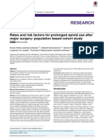 Rates and risk factors for prolonged opioid use after major surgery