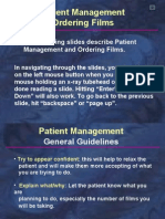 Radiology Patient Management Ordering