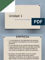 Clasificacion de Empresas Unidad 1