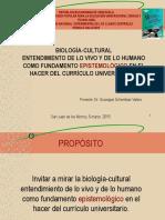Biologia Cultural Entendimiento de Lo Vivo