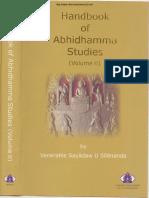 312. HandBook of Abhidhamma Studies Vol 2 - Ven Dr. Silananda