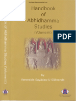 328. HandBook of Abhidhamma Studies Vol 3 - Ven Dr. Silananda