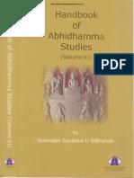 313. HandBook of Abhidhamma Studies Vol 3 - Ven Dr. Silananda