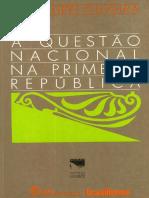 A Questão Nacional Na Primeira Republica