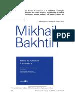 BAKHTIN, Mikhail. Teoria Do Romance I