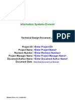 (10) Technical Design Document Template