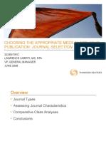 Journal Selection Tactics