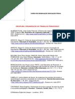 Referência Digital Para Organização Pedagógica Do Trabalho