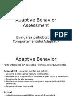Adaptive Behavior Assessment