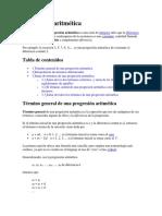 FICHA1.Progresión aritmética