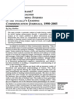 Whats in a Frame-A Content Analysis of Media Framing Studies in the Worlds Leading Communication Journals 1990-2005