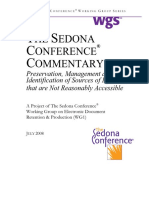 Commentary on Preservation, Management and Identification of Sources of Information That Are Not Reasonably Accessible