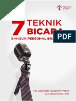 7 Teknik Bicara Bangun Personal Branding Jamil Azzaini