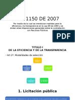LEY 1150 DE 2007