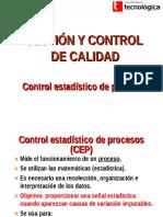 Unidad II Control Estadistico de Procesos 1