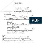 Hosanna - Paul Baloche - Chord Sheet (G)