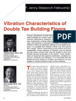 Vibration Characteristics of Double Tee Building Floors