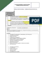 Formato General de Formulación de Proyectos