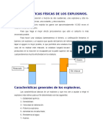 Características Físicas de Los Explosivos