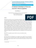 Advanced Electrochemical Technologies in Wastewater Treatmen. Part I