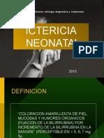 Ictericia Neonatal 2015
