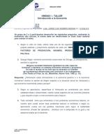 Evaluación (Taller) UNIDAD I - ECONOMÍA GENERAL