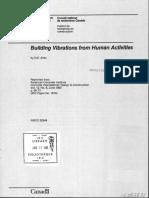 Allen, D.E. - Building Vibrations From Human Activities