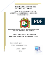 Tesis de Maestria Sobre Responsabilidad Civil Extra Contractual de Los Jueces y Del Estado