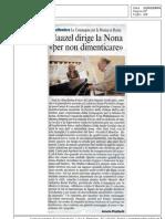 Giancarlo Rossi - (salv)agente di cambio - PDF Rassegna Stampa Compagnia per la Musica di Roma CorSera12-02-09