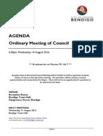 City of Greater Bendigo council agenda