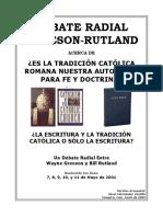 El Debate Greeson Rutland Sobre La Tradición Catolica