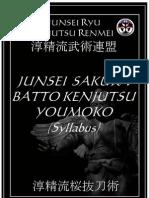 Junsei Ryu Sakura Batto Kenjutsu Okuiri Syllabus